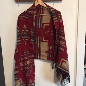 Aztec oversized scarf